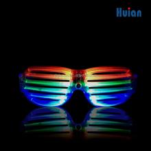 Fashion plastic led light up glasses,flashing funny party led light glasses,shutter led sunglasses for nightclub bar carnival