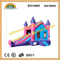 0.55mm PVC tarpaulin inflatable bounce house, inflatable combo, inflatable slide