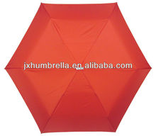 19inch 6k promotional supermini red aluminum 3 fold umbrella with UV