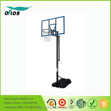 Wholesale good price best quality height adjustable movable portable 10' basketball stand with blue glass board