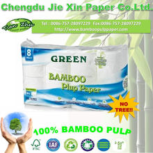 100% bamboo pulp Embossed Tissue Paper/ Toilet paper/ Soft Toilet Tissue