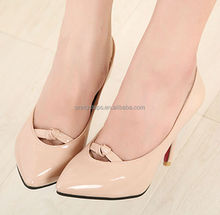 Pretty Steps 2014 wedges Ladies elegant high PU shoes nude and black color in stock small quantity good quality fashion shoe