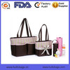 Fashion print polyester necessary accessories mommy tote baby diaper bags