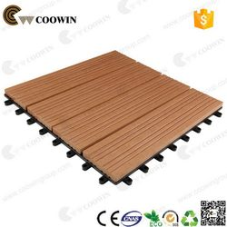 Popular branded wpc decking tile with exterior stain