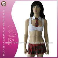 wholesale fashion design private school sexy girls costume