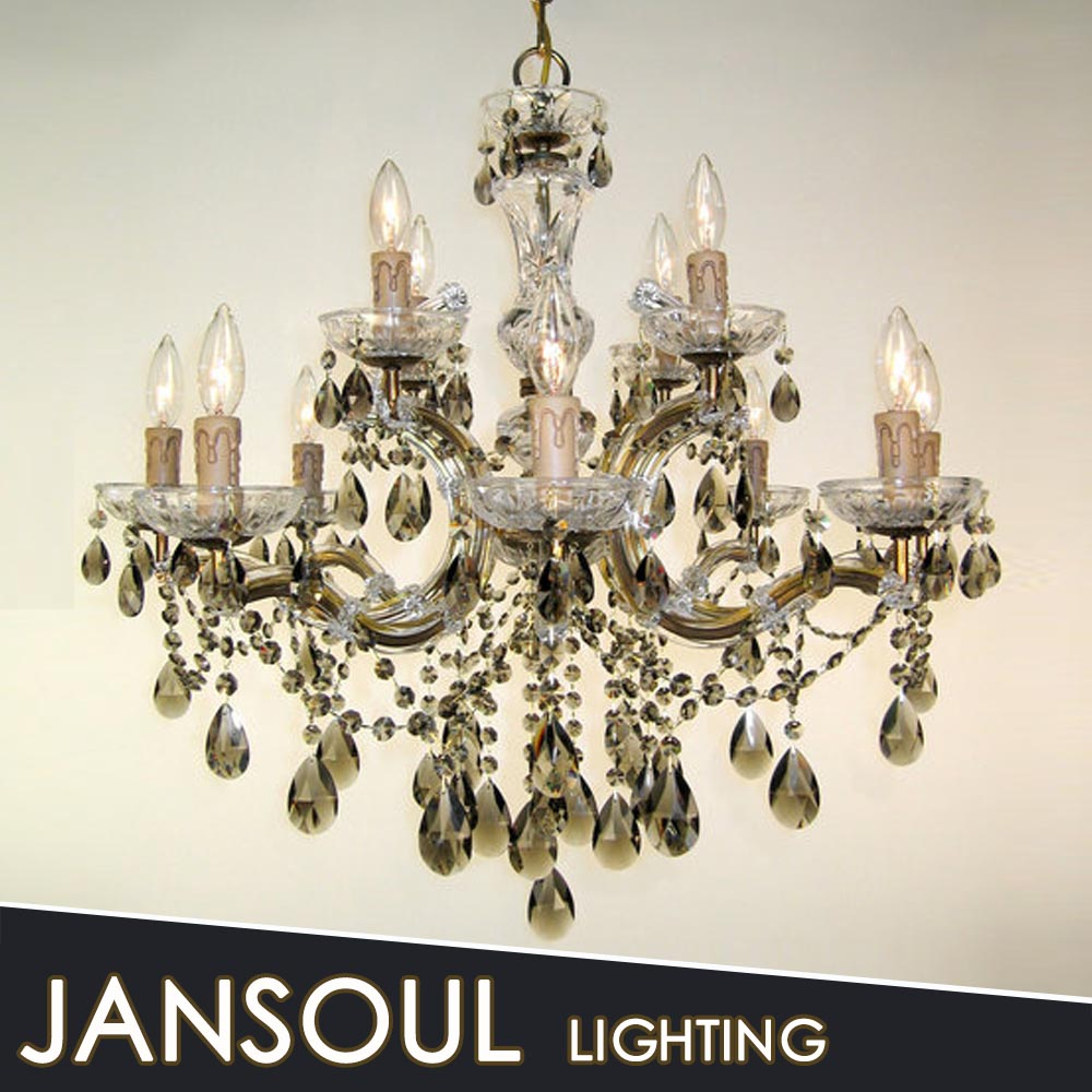 Hot Sale Modern Crystal Rustic Iron Chandelier For Living