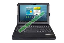 Bluetooth keyboard for galaxy tab 10.1 p7500 With 450mAh Mobile Power And PU Leather Case