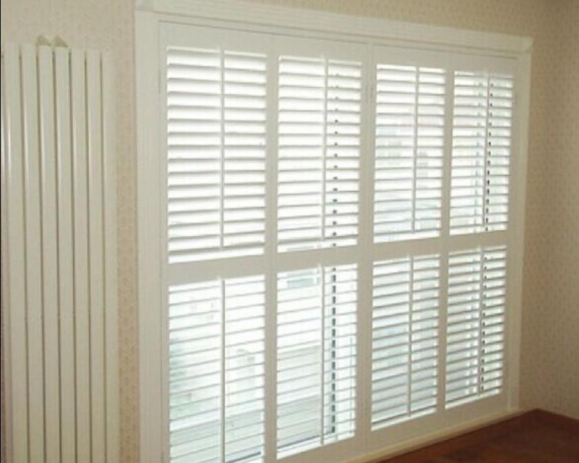 Horizontal aluminum wooden sliding window