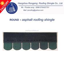 round asphalt roofing shingle