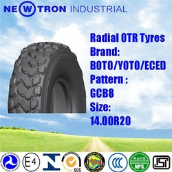 OTR industry 14.00R20 Boto GCB8 china Radial off the road tyres