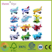 Factory Sale 12 Models a Set Wooden Airplane Model Toy