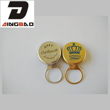 gold and silver with logo printed ring pull seal caps aluminium easy open cap