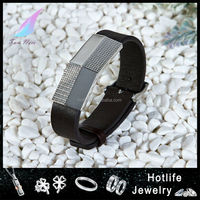 high end stainless steel jewelry 2016 bracelet men leather charm wristband