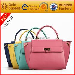 100% genuine leather handbag women shoulder bag latest side bags for women