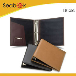 Executive A4 Padded Hard Cardboard Custom Faux Leather Binder