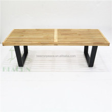 Nelson Style Outdoor Garden bench, Living Room Platform Wooden Bench, wood design bench, outdoor bench