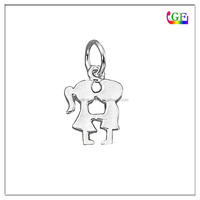 Fashion Kissing Boy Girl Silhouette Charm