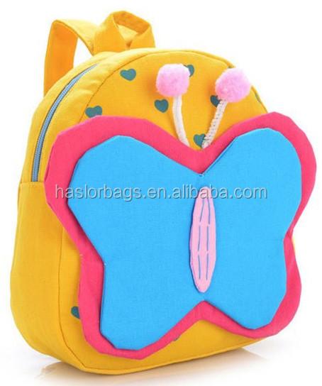 Mignon forme de papillon enfants animaux sac à dos pour enfants