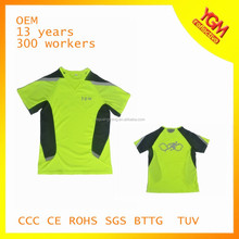 colorful knitting high visibility t shirt for bike