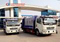 Dongfeng novo modelo traseira loader caminhão de lixo compactador, coletor de resíduos para a venda