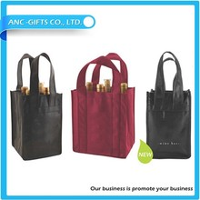 Hot sale colorful high quality non woven wine carrier bag