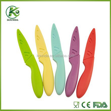 Hot Selling Colorful Non Stick ss Coating paring Knife with lovely handle
