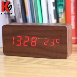 Square shape led clock multifunction decorative terracotta clock & thermometer