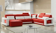 Latest style interior furniture big corner sofa with chaise modern 105A