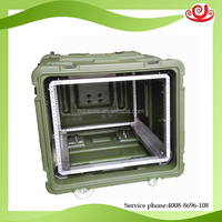 Tricases RU080 waterproof 8U plastic rack rotomolding case for computer server