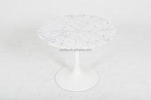 Made in China round marble top dining table Eero saarinen tulip table