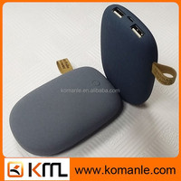 Dual USB cute stone power bank 7800mAh external bettery for mobile phone