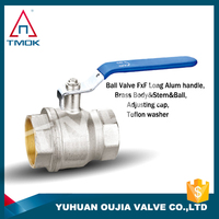 brass ball valves with filter with forged blasting hydraulic motorize xw617n three way plating male threaded connection in TMOK