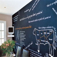 2015 New Products apple shape wall deco self adhesive blackboard wall sticker in sheets