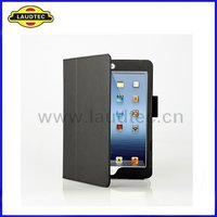 Stand Leather Flip Case Cover for Apple iPad Mini,Leather Skin Shell -- Laudtec