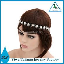 Grecian Wedding Pearl Crystal Bridal Headband