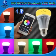 Langma App Controlled LED Light Bulb compatible wth Bluetooth 4.0 Apple/Android Devices bluetooth led light 8w e27