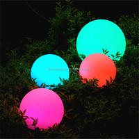 PBB-200 outdoor color changing plastic solar ball waterproof solar illuminated globe
