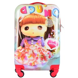 ABS PC film cute cartoon print kids luggage