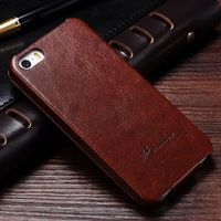 China manufacturer mobile custom cell phone cover case for Iphone 5 S, brown classic phone case for I Phone