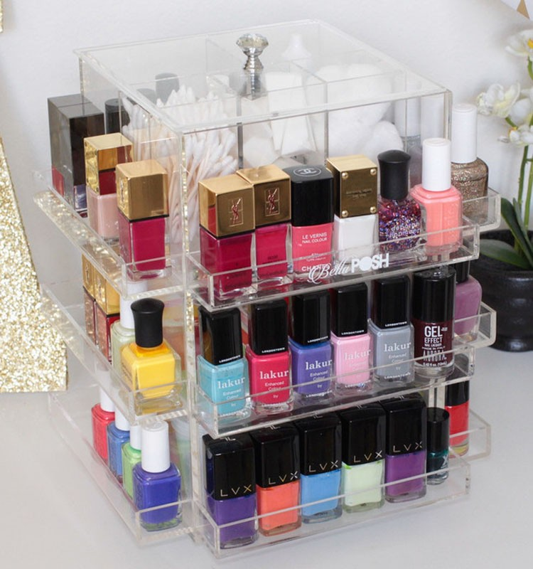 Spinning Acrylic Opi Nail Polish Display Rotating Clear Acrylic Nail ...