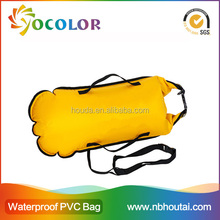2015 hot sale 500D PVC tarpaulin red inflatable Waterproof Gym Sack for boating
