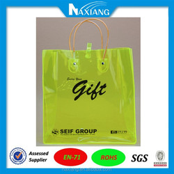 Corlored Transparent Packing plastic bag for clothes with button closure