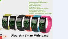USB interface smart bracelet Calorie burns measurement Connect APP smart bracelet2015