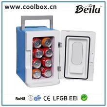 8L Mini fridge Table top fridge 8 bottle portable plastic cooler box 12V