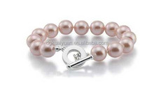 2015 best sell artificial pink pearl bead bracelet