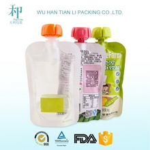 custom printed good design laminated superior quality spout pouch for vegetable