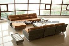 High Class Synthetic Rattan Garden Furniture/ Outdoor PE Wicker Sofa Furniture