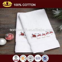 100% cotton Christmas Santa on the Go Holiday Embroidery Hand Towel