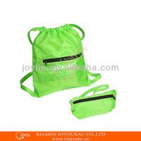 2015 fashion foldable drawstring backpack gym bags