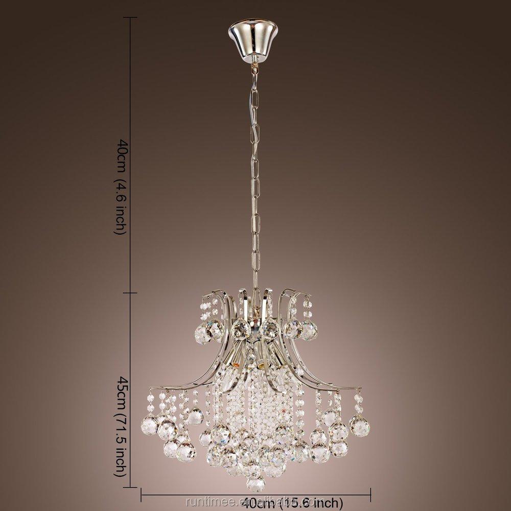 Moderno lampadario di cristallo con 6 luci a sospensione moderna ...
